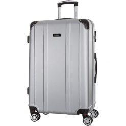 Walizka w kolorze srebrnym - 86 l. Szare walizki marki Travel One, z materiału. W wyprzedaży za 269,95 zł.