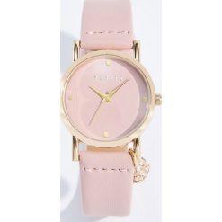 Zegarki damskie: Zegarek z przywieszką - Różowy