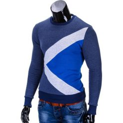 BLUZA MĘSKA BEZ KAPTURA ERICO B575 - GRANATOWA. Niebieskie bluzy męskie marki Ombre Clothing, m, z bawełny, bez kaptura. Za 59,00 zł.