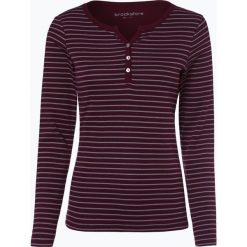 Brookshire - Damska koszulka z długim rękawem, czerwony. Czerwone t-shirty damskie brookshire, xxl, w paski, z bawełny, z kołnierzem typu henley. Za 99,95 zł.