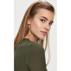 Swetry damskie: Dopasowany sweter – Khaki