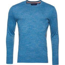 Swetry klasyczne męskie: Superdry ORANGE LABEL  Sweter storm blue grindle