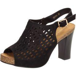 3abfab6b Czarne sandały damskie SERGIO LEONE SK850. Czarne sandały damskie Sergio  Leone, bez wzorów,