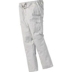 Bojówki męskie: Spodnie bojówki z gumką w talii Regular Fit bonprix jasnoszary