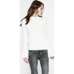 Pepe Jeans - Sweter. Szare swetry klasyczne damskie Pepe Jeans, l, z bawełny. W wyprzedaży za 179,90 zł.