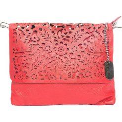 Torebki klasyczne damskie: Skórzana torebka w kolorze czerwonym – 27 x 22 x 1 cm