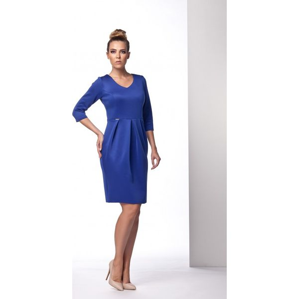 78d1ad2496 Elegancka sukienka tulipan chabrowa ANNETTE - Niebieskie sukienki ...