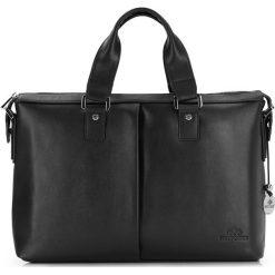 Torba na laptopa 20-3-042-1. Czarne torby na laptopa marki Wittchen, w paski, z tłoczeniem. Za 1599,00 zł.