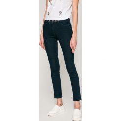 Trussardi Jeans - Jeansy 206. Niebieskie jeansy damskie marki Trussardi Jeans, z haftami, z bawełny. W wyprzedaży za 579,90 zł.