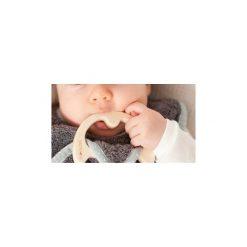 LullaLove SupeRRO Baby Eco Śliniak z drewnianym gryzakiem ecru. Szare śliniaki LullaLove. Za 49,00 zł.