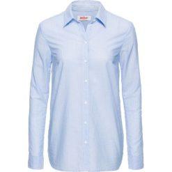 Bluzka z nadrukiem, długi rękaw bonprix w paski. Szare bluzki asymetryczne bonprix, z nadrukiem, z długim rękawem. Za 37,99 zł.