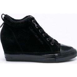 Calvin Klein Jeans - Buty. Czarne buty sportowe damskie marki Calvin Klein Jeans, z jeansu. Za 449,90 zł.