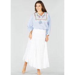 Długie spódnice: Spódnica rozszerzana, rozkloszowana gładka, długa