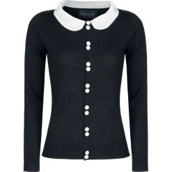Swetry rozpinane damskie: Gothicana by EMP Faye Sweter damski czarny/biały