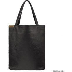 Shopper XL torba czarna z teksturą na zamek. Czarne shopper bag damskie Pakamera, na ramię. Za 155,00 zł.