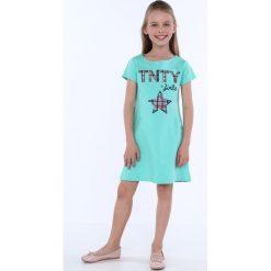 Sukienka dziewczęca z kieszeniami ciemnomiętowa NDZ8149. Szare sukienki dziewczęce marki Fasardi. Za 49,00 zł.