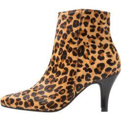 Lazamani Ankle boot brown. Brązowe botki damskie skórzane marki Lazamani. Za 589,00 zł.