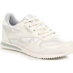 Buty sportowe damskie: Biało srebrne buty sportowe damskie Wishot