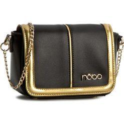 Torebka NOBO - NBAG-0670-C020 Czarny Z Złotym. Czarne torebki klasyczne damskie Nobo, ze skóry ekologicznej. W wyprzedaży za 109,00 zł.