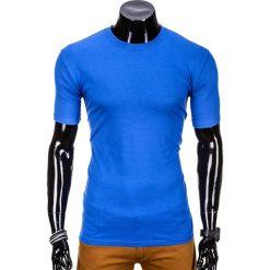 T-shirty męskie: T-SHIRT MĘSKI BEZ NADRUKU S870 – NIEBIESKI