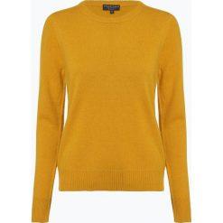 Marie Lund - Sweter damski z wełny merino, żółty. Żółte swetry klasyczne damskie Marie Lund, m, z wełny. Za 229,95 zł.