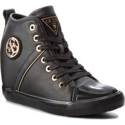 Sneakersy GUESS - FLJLY3 ELE12 BLACK. Czarne sneakersy damskie marki Guess, ze skóry ekologicznej. Za 529,00 zł.