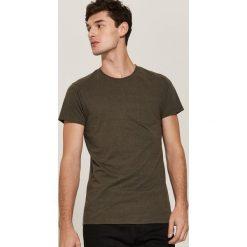 T-shirt basic z kieszonką - Khaki. Brązowe t-shirty męskie House, l. Za 35,99 zł.