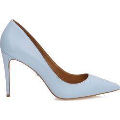 Buty ślubne damskie: Niebieskie czółenka damskie