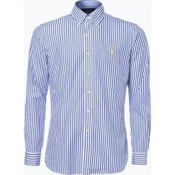 Polo Ralph Lauren - Koszula męska, niebieski. Szare koszule męskie marki Polo Ralph Lauren, l, z bawełny, button down, z długim rękawem. Za 299,95 zł.