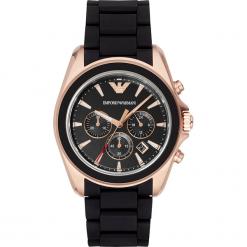 Zegarek EMPORIO ARMANI - Sigma AR6066 Black/Rose Gold/Black. Czarne zegarki męskie Emporio Armani. Za 1609,00 zł.
