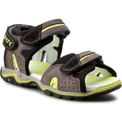 Sandały BARTEK - 16185-507 Szaro Czarny. Czarne sandały męskie skórzane Bartek. W wyprzedaży za 199,00 zł.