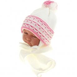 Czapka niemowlęca z szalikiem CZ+S 008D. Szare czapeczki niemowlęce Proman. Za 36,70 zł.