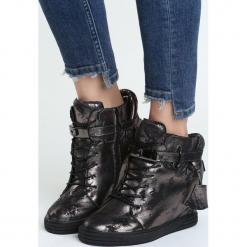 Czarno-Srebrne Sneakersy Barter. Czarne sneakersy damskie Born2be, z materiału. Za 89,99 zł.