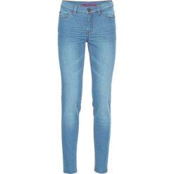 Dżinsy Super SKINNY, krótsze nogawki bonprix niebieski bleached. Niebieskie jeansy damskie marki bonprix, z jeansu. Za 59,99 zł.