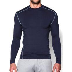 Under Armour Koszulka męska ColdGear Armour Compression Mock Midnight Navy/Steel r. XL (1265648-410). Niebieskie koszulki sportowe męskie Under Armour, m. Za 154,66 zł.