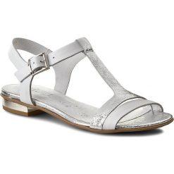 Rzymianki damskie: Sandały OLEKSY – 2000/972/534/000/000 Biały Srebrny