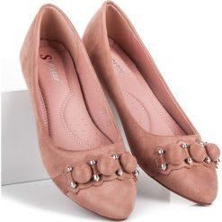 Baleriny damskie lakierowane: Zamszowe baleriny w szpic DESTANEE