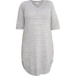 Sukienki dzianinowe: Zizzi JACKSONVILLE Sukienka dzianinowa light grey melange