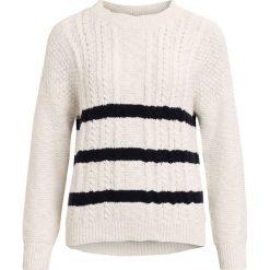 Swetry damskie: Sweter, okrągły dekolt, gruba dzianina