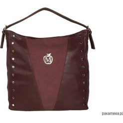 Torebki klasyczne damskie: MANZANA worek torebka ćwieki- bordowa