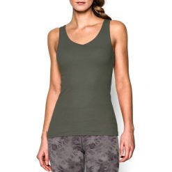 Topy sportowe damskie: Under Armour Koszulka damska Double Threat Tank Under Armour Downtown Green r. XS (1253915330)