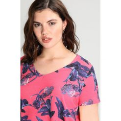 T-shirty damskie: ADIA 1/2 SLEEVES V NECK WITH FLOWER Tshirt z nadrukiem pink hibiscus