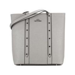 Torebki klasyczne damskie: Skórzana torebka w kolorze szarym – (S)32 x (W)33 x (G)13 cm