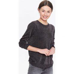 Swetry klasyczne damskie: SWETER DAMSKI Z BŁYSZCZĄCĄ NITKĄ, LUŹNY