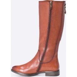 Tamaris - Kozaki. Szare buty zimowe damskie marki Tamaris, z materiału, na sznurówki. W wyprzedaży za 269,90 zł.