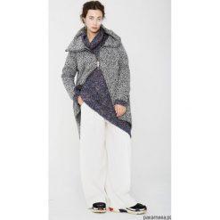 Wełniany płaszcz z kominem 'melanż. Niebieskie płaszcze damskie wełniane marki Reserved. Za 400,00 zł.