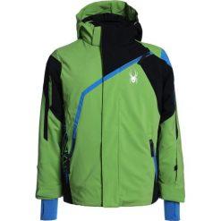 Spyder CHALLENGER Kurtka narciarska fresh/black/french blue. Zielone kurtki chłopięce sportowe Spyder, z materiału, narciarskie. W wyprzedaży za 671,20 zł.