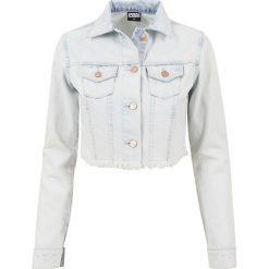 Urban Classics Ladies Short Denim Jacket Kurtka jeansowa damska jasnoniebieski. Niebieskie bomberki damskie Urban Classics, xl, z denimu. Za 121,90 zł.