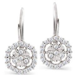 Kolczyki damskie: PROMOCJA Kolczyki Białe Złoto – złoto białe 333, Diament 0,20ct