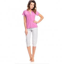 Piżama w kolorze różowo-szarym - koszula, spodnie. Czerwone piżamy damskie Doctor Nap, l. W wyprzedaży za 72,95 zł.